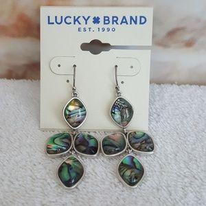 New Lucky Brand Abalone Drop Earrings